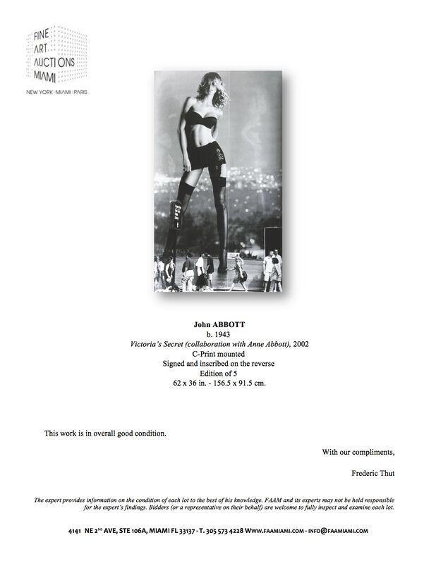 John Abbott, 'Victoria's Secret (collaboration with Anne Abbott)', 2002, Photography, C-print mounted, Fine Art Auctions Miami