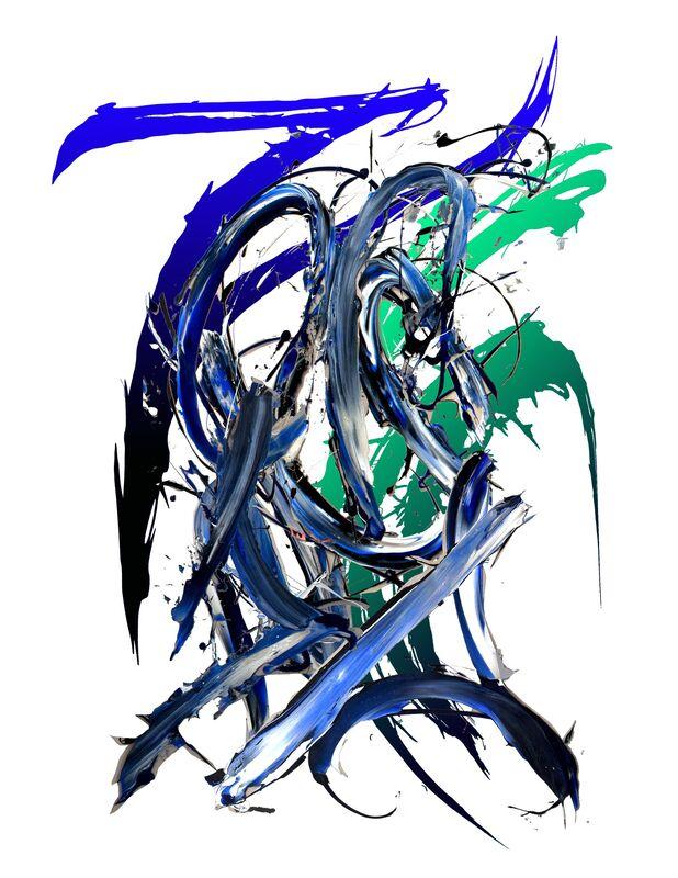 Meguru Yamaguchi, 'Shadow Piece #1', 2019, Painting, Acrylic and epoxy on shaped wood board, GR Gallery