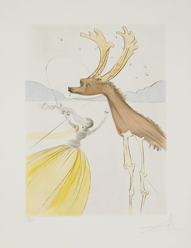 Salvador Dalí, 'Naphtali (Twelve Tribes of Israel)', 1973, Print, Hand-signed etching with color stencil, Martin Lawrence Galleries