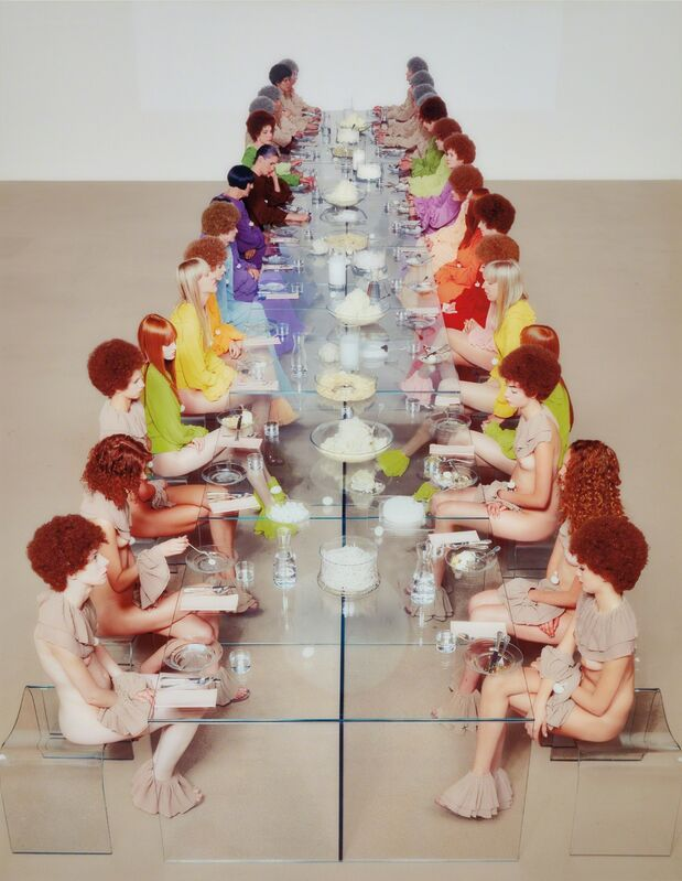 Vanessa Beecroft, 'VB52, Castello di Rivoli, Turin', 2003, Photography, Chromogenic print, face-mounted to Plexiglas and flush-mounted, Phillips