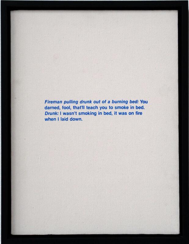 Richard Prince, 'Untitled (Fireman Joke)', 1987, Print, Silkscreen on canvas, Gallery Red