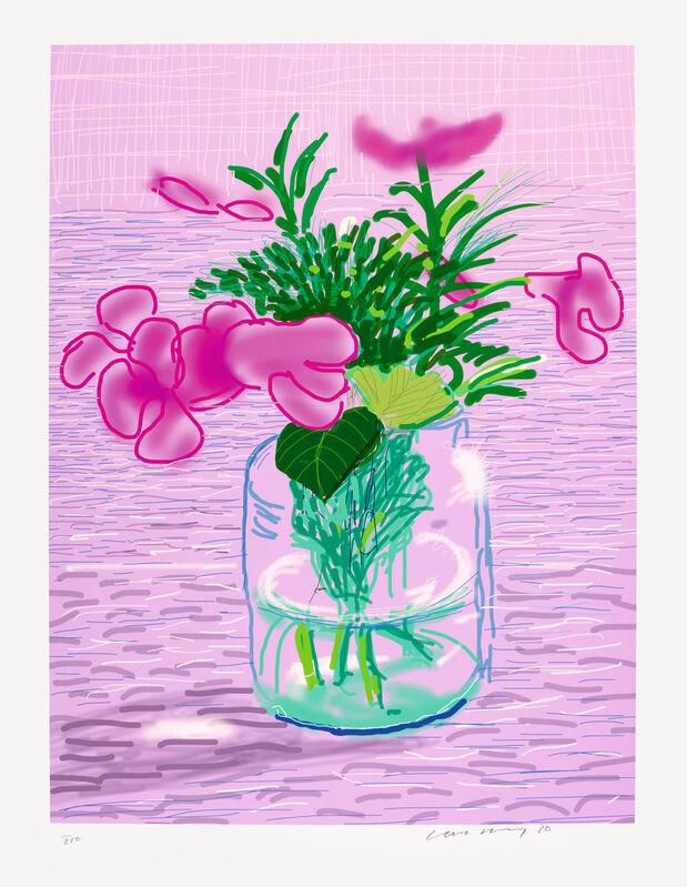 David Hockney, 'Lilacs', 2010, Print, Eight color inkjet print on cotton fibre archival paper, Oliver Clatworthy Gallery Auction