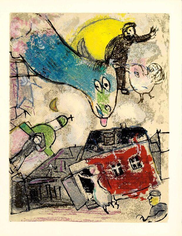 Marc Chagall, 'Tu m'as Rempli les Mains (Poèmes, #10)', 1968, Print, Woodcut, Martin Lawrence Galleries