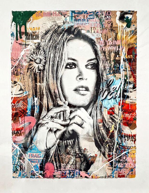 Mr. Brainwash, 'Brigitte Bardot', 2018, Mixed Media, Silkscreen and mixed media on paper, Artsy x Forum Auctions