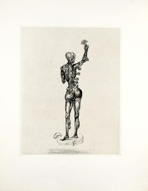Salvador Dalí, 'Les Chants de Maldoror [L'Homme au Fleur]', 1934, Print, Heliogravure and drypoint on wove paper, Galerie Michael