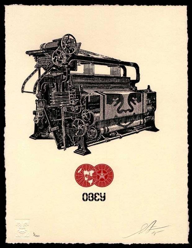 Shepard Fairey, 'Obey Loom Letterpress', 2015, Print, Letterpress print, Dope! Gallery