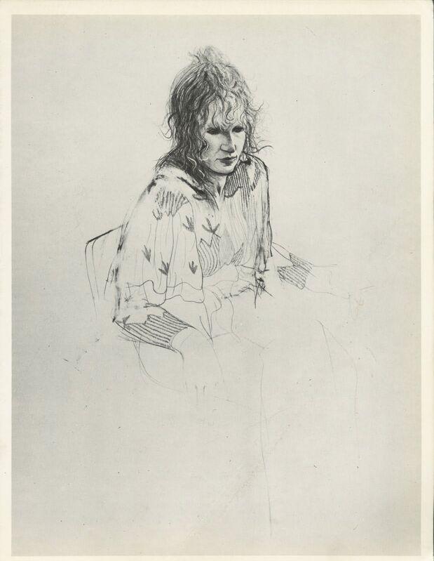 David Hockney, 'Celia Smoking', 1973, Print, Lithograph on Angoumois handmade wove paper, Tanya Baxter Contemporary