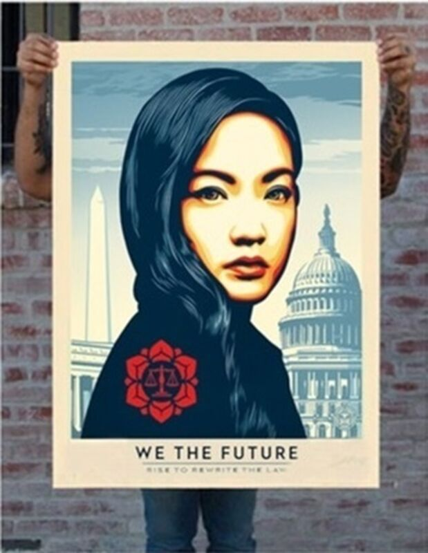 Shepard Fairey, 'Rewrite The Law (Large Format)', 2018, Print, 6 color screen print on 100% cotton custom archival paper with hand-deckled edges, Gallery 1890