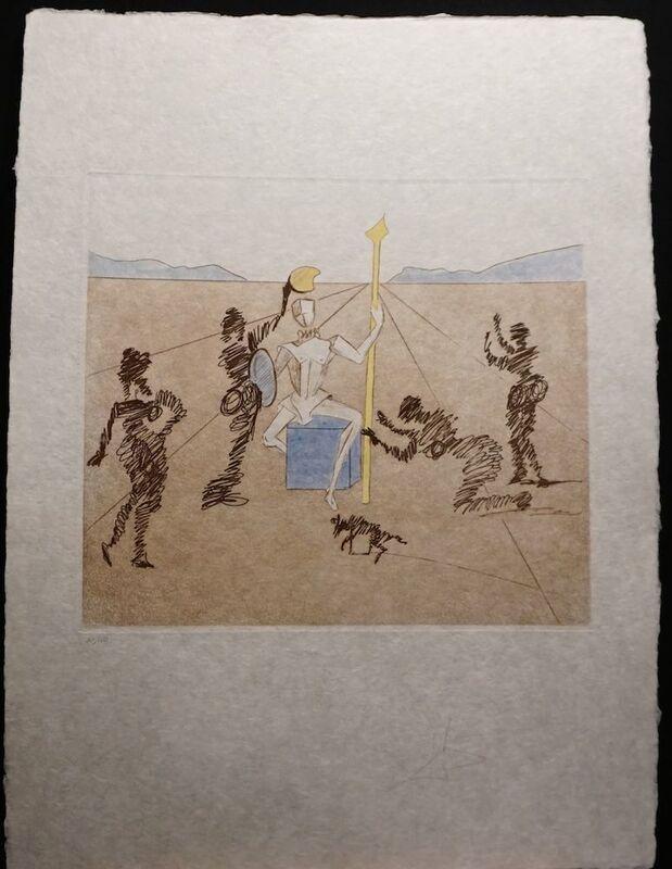 Salvador Dalí, 'Historia de Don Quichotte de la Mancha The Golden Helmet of Madrino', 1980, Print, Etching, Fine Art Acquisitions Dali