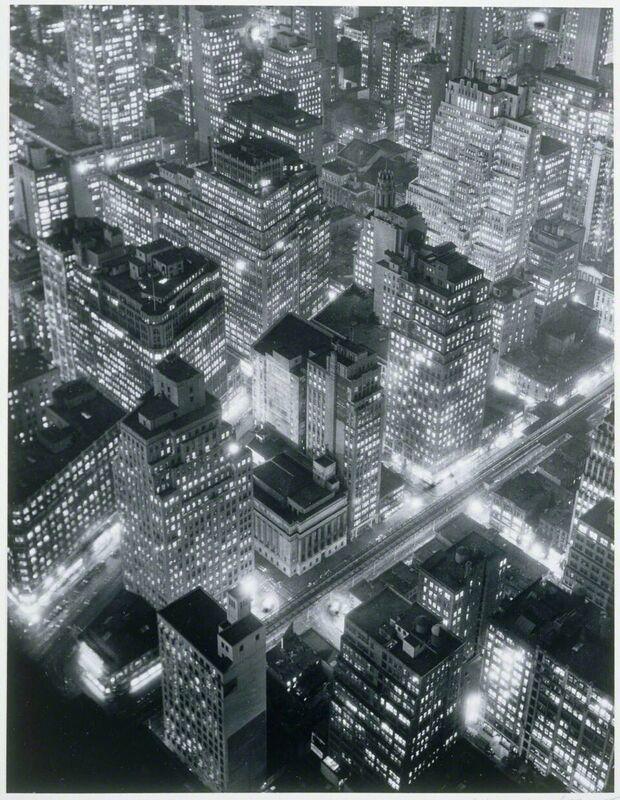 Berenice Abbott, 'New York at Night', 1931, Photography, Gelatin silver enlargement print, Phillips Collection