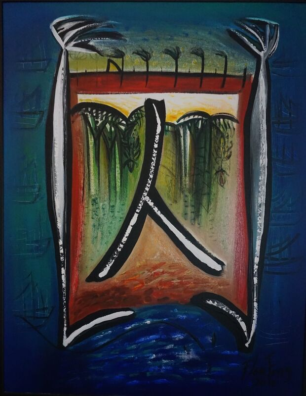 Flora Fong, 'Chino en las Américas / Chinese in America', 2010, Painting, Mixed/canvas, ArteMorfosis - Cuban Art Platform