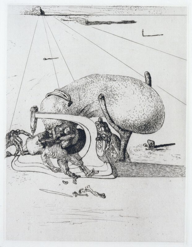 Salvador Dalí, 'Lautréamont, Les Chants de Maldoror, Albert Skira, Paris, 1934', Print, The complete set of 42 etchings, on Arches paper, Christie's