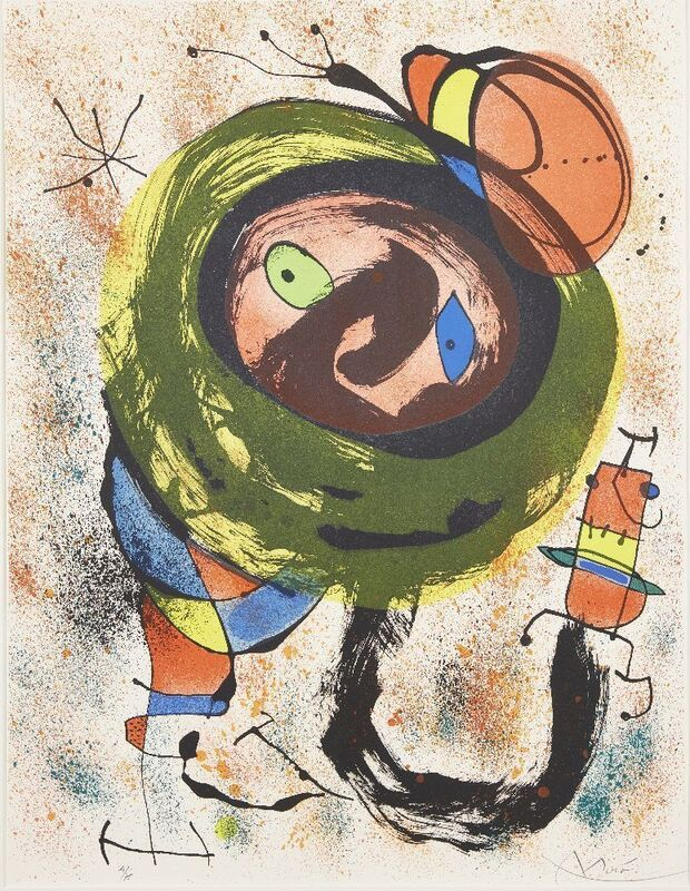 Joan Miró, 'Plate 5 from Les Voyants [Mourlot 665]', 1970, Print, Lithograph in colours on wove, Roseberys