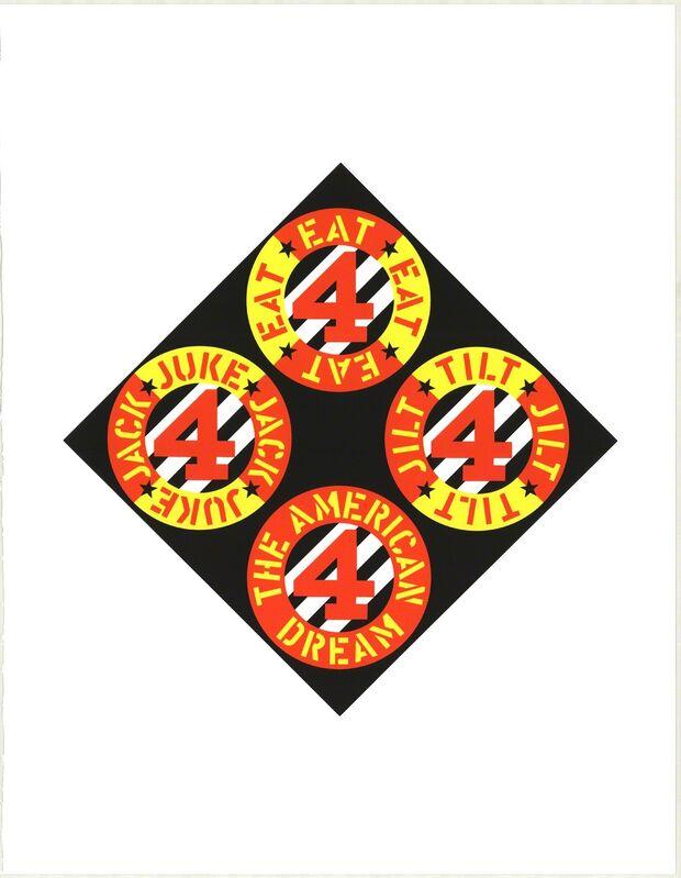 Robert Indiana, 'The Beware-Danger American Dream #4', 1997, Print, Serigraph, ArtWise