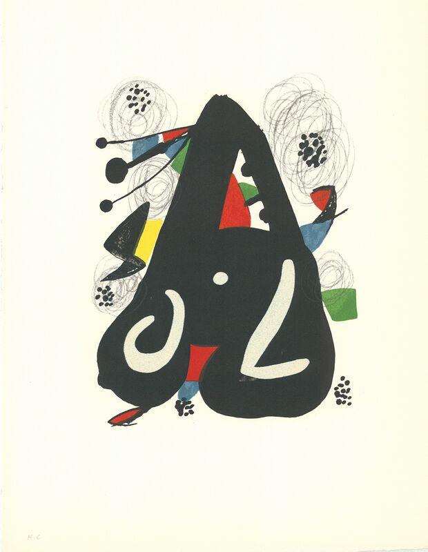 Joan Miró, 'La Mélodie Acide - 9', 1980, Print, Lithograph, Cerbera Gallery