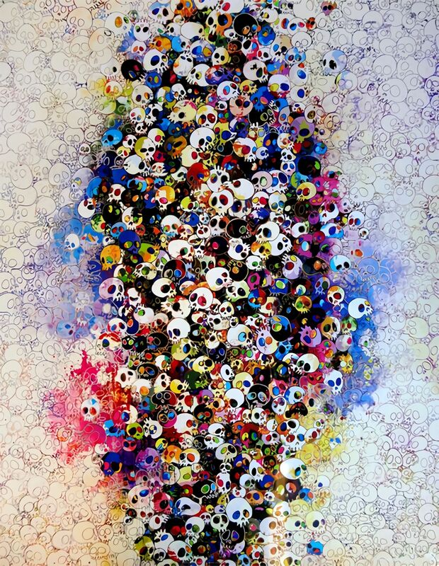 Takashi Murakami, 'Who's Afraid of Red, Yellow, Blue and Death', 2011, Print, Offset print with silver and silkscreen with spot UV varnishing, Pinto Gallery
