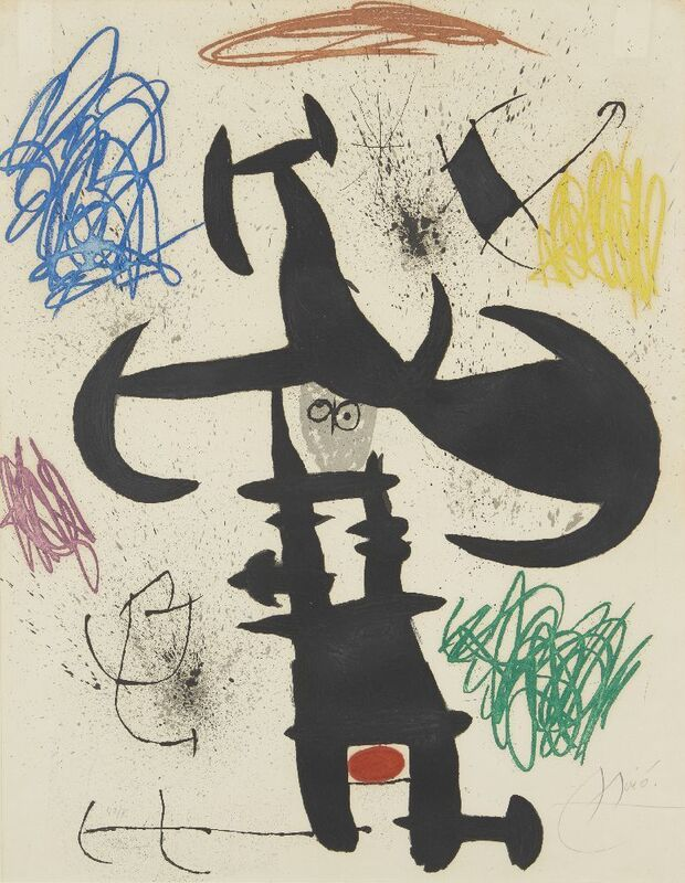 Joan Miró, 'Le Souffre Douleur [Dupin 539]', 1970, Print, Etching with aquatint and carborundum in colours on Arches wove, Roseberys