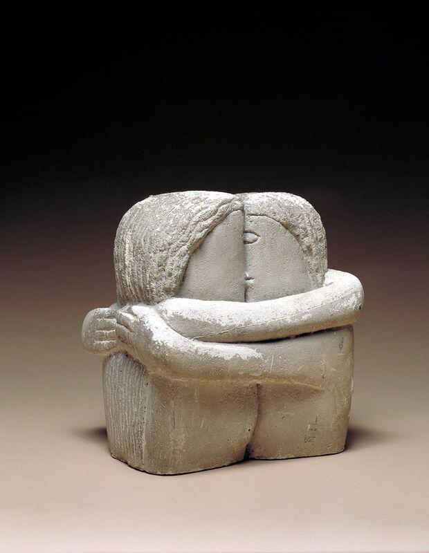 Constantin Brâncuși, 'The Kiss (Le Baiser)', 1907-1908, Sculpture, Plaster, Nasher Sculpture Center
