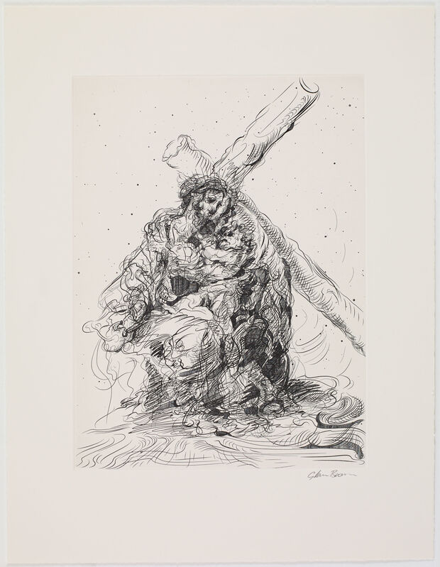 Glenn Brown, 'Bring on the Dancing Horses (after Murillo/Murillo)', 2019, Print, Etching, Paragon