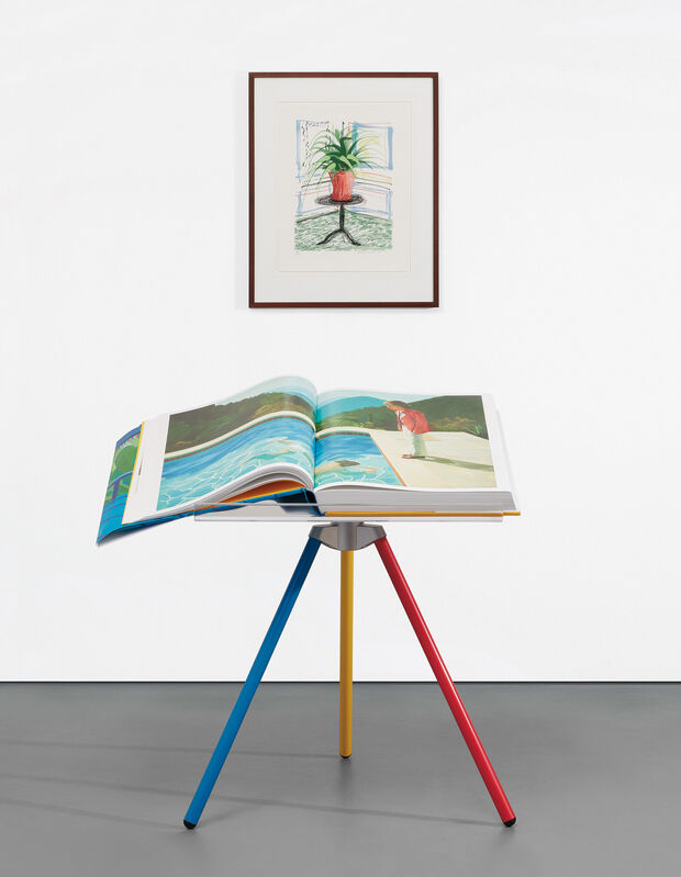 David Hockney, 'A Bigger Book, Art Edition C', Books and Portfolios, IPad drawing in colors, printed on archival paper, with full margins, with the illustrated 680-page chronology book, numbered '0556' (printed), original print portfolio and adjustable book stand designed by Marc Newson, contained in the original cardboard box with label stamp-numbered '0556'., Phillips