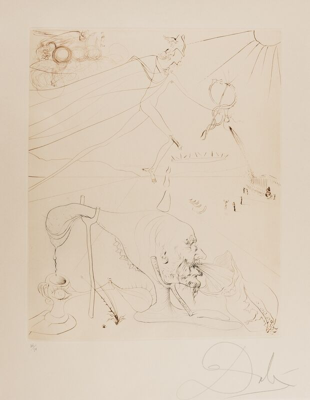 Salvador Dalí, 'L'Alchimiste (M & L 581c: Field 72-13)', 1973-1975, Print, Etching printed in colours, Forum Auctions