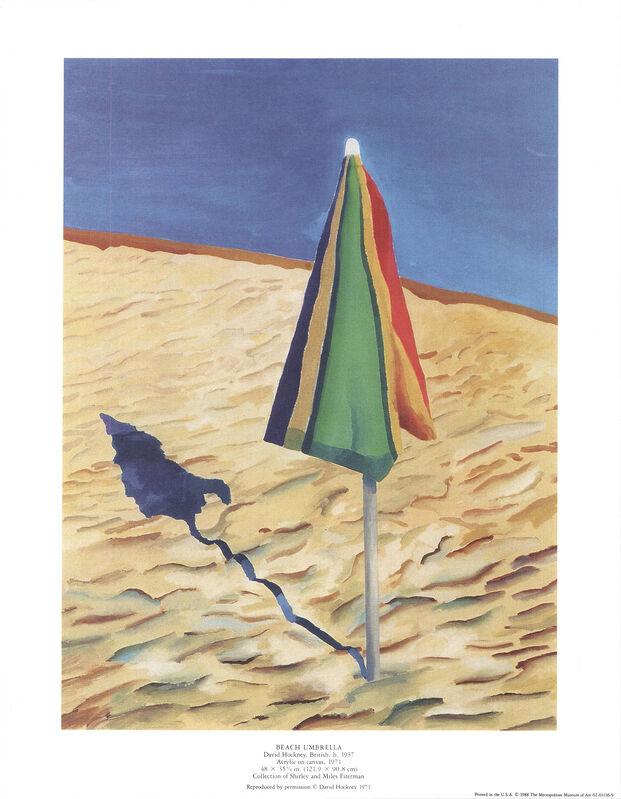 David Hockney, 'Beach Umbrella', 1988, Ephemera or Merchandise, Offset Lithograph, ArtWise