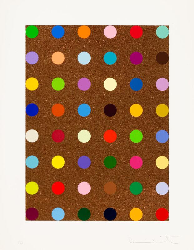 Damien Hirst, 'Carvacrol', 2008, Print, Color silkscreen over bronze glitter, Christopher-Clark Fine Art