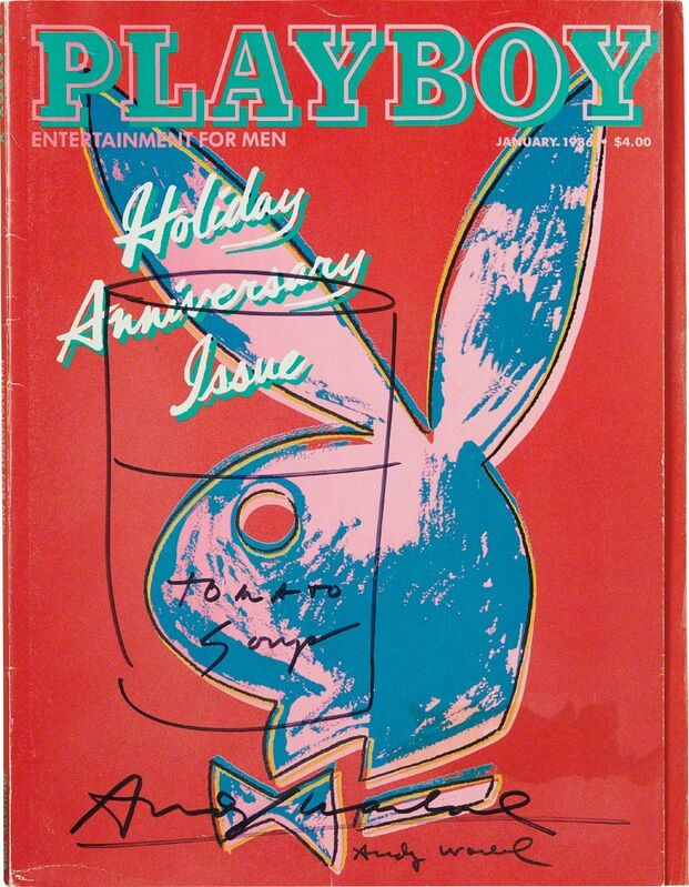 Andy Warhol, 'Playboy Magazine [Tomato Soup]', January 1986, Print, Ink drawing on a magazine (the cover was designed by the artist), intact with magazine pages, Phillips