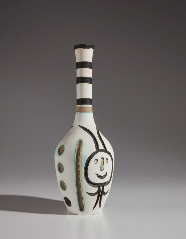 Pablo Picasso, 'Engraved bottle (Bouteille gravée)', 1954, Design/Decorative Art, White earthenware turned bottle, painted in colors, with brushed glaze, Phillips