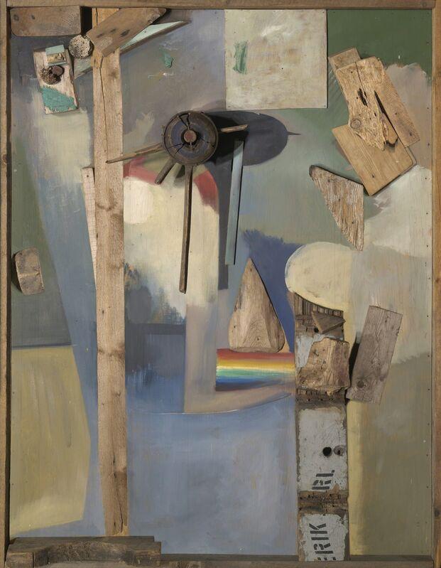 Kurt Schwitters, 'Merzbild mit Regenbogen (Merz Picture With Rainbow)', 1920-1939, Sculpture, Mixed media and paint on plywood, Yale University Art Gallery