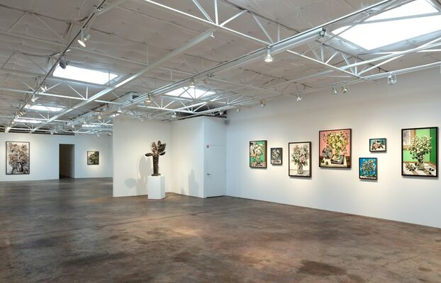 David Bates, Portraits of Flowers, installation view