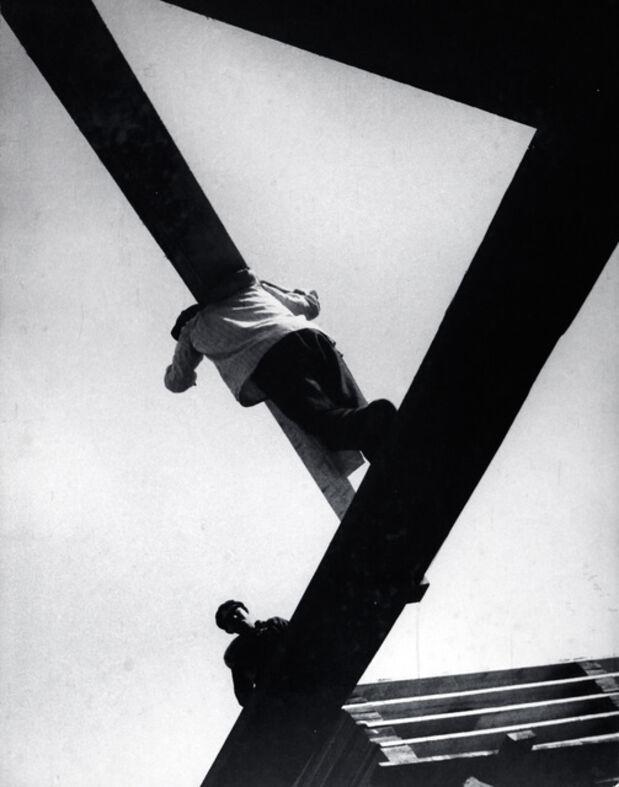 Boris Ignatovich | With a board (1929) | Artsy