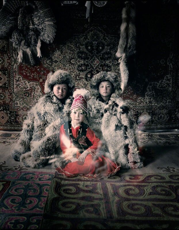 Jimmy Nelson, 'VI 27 Bakbergen, Samil & Kamilla Altantsogts, Bayan Olgii, Mongolia', 2011, Chromogenic color print, Bryce Wolkowitz Gallery