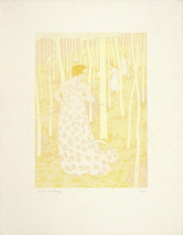 Gaston De Latenay, 'Les Chasseuresses (the Huntresses)', 1896, Print, Color lithograph, Heather James Fine Art Gallery Auction
