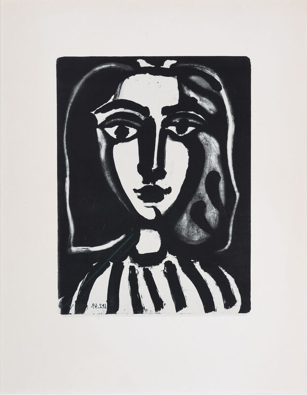 Pablo Picasso, 'Jeune Femme', 1949, Print, Lithograph, Odon Wagner Gallery