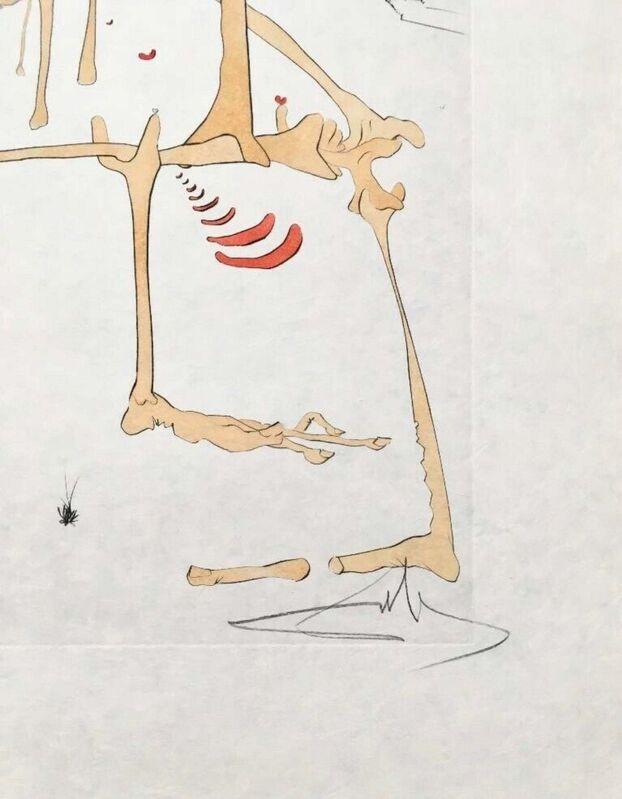 Salvador Dalí, 'Paysage avec Squelette (Landscape w/Skeleton)', 1975, Print, Engraving with pochoir on Japon paper, Art Commerce