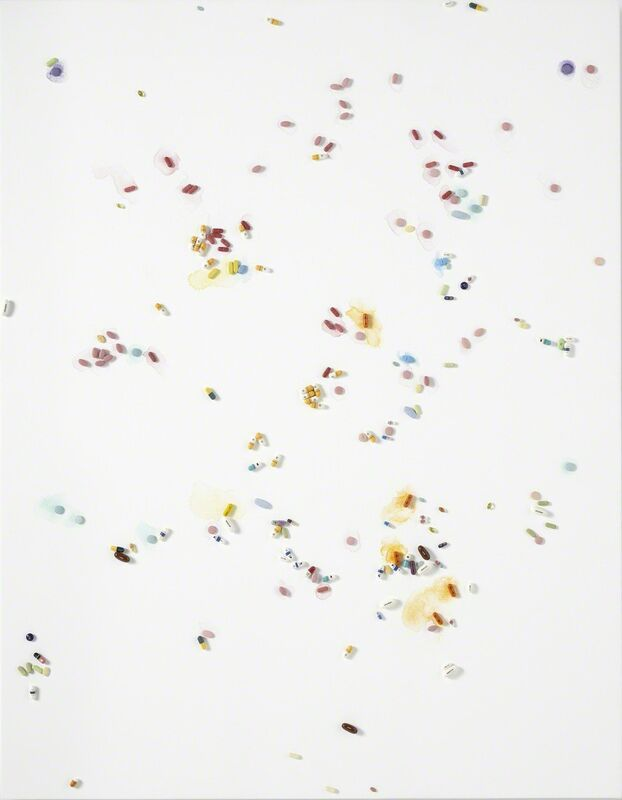 Damien Hirst, 'Passover', 2008-2009, Mixed Media, Metal, resin and plaster pills and watercolour on canvas, Gagosian