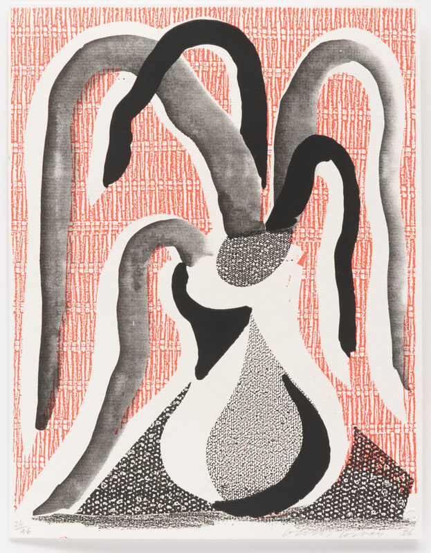 David Hockney, 'The Drooping Plant', 1986, Print, Home made print executed on an office color copy machine, Leslie Sacks Gallery