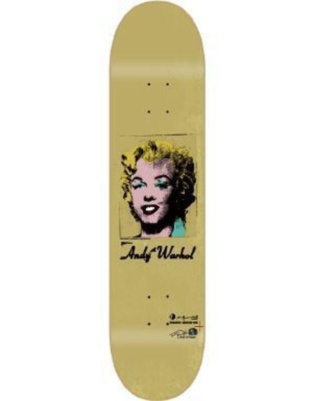 Andy Warhol, 'Golden Marilyn skateboard deck', ca. 2010, Print, Screenprint on skateboard deck, EHC Fine Art
