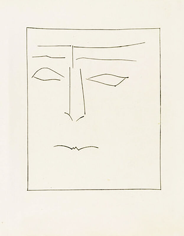 Pablo Picasso, 'Square Head of a Man with Clenched Mouth (Plate IX)', 1949, Print, Original etching on Montval wove paper, Georgetown Frame Shoppe