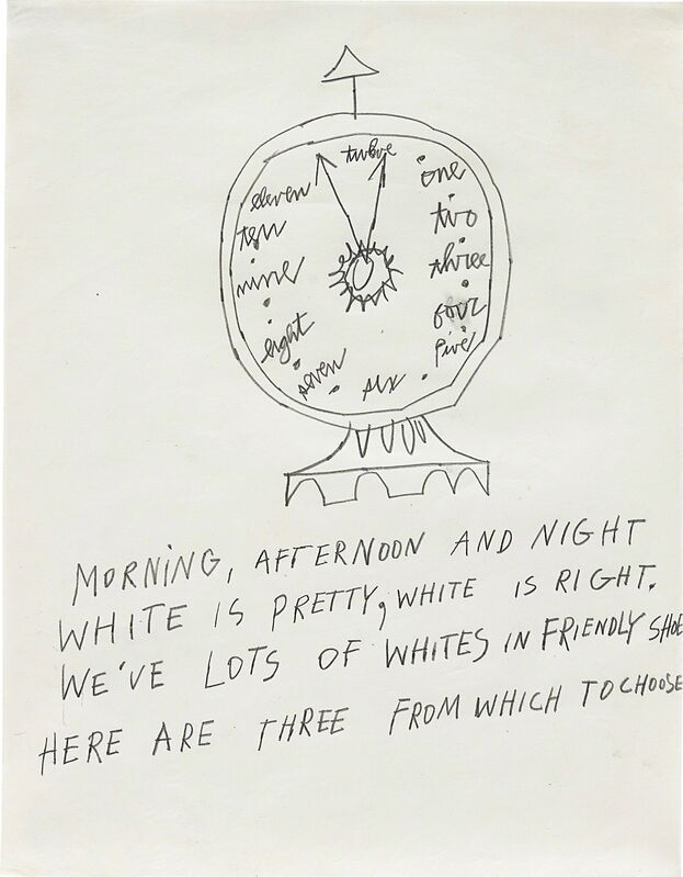 Andy Warhol, 'Clock', 1953, Drawing, Collage or other Work on Paper, Graphite on paper, Phillips
