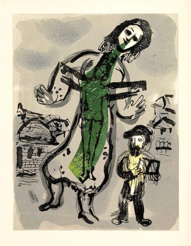 Marc Chagall, 'Où est le Jour (Poèmes, #13)', 1968, Print, Woodcut, Martin Lawrence Galleries