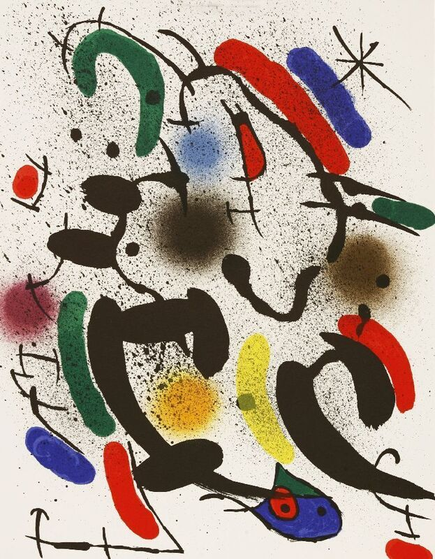 Joan Miró, 'LITHOGRAPHIE I (MOURLOT 865, 866, 858, 862)', 1972, Print, Four lithographs printed in colours, Sworders