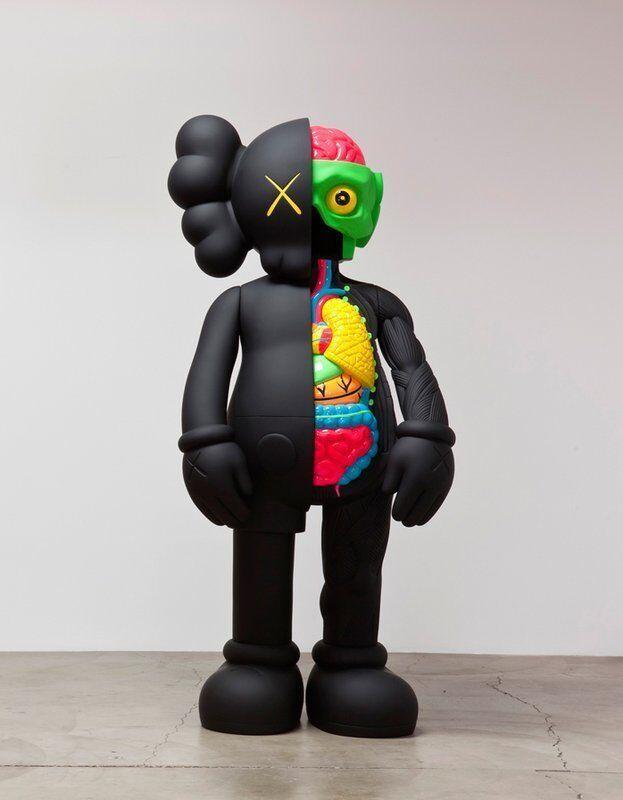 KAWS, '4 Ft Companion (Dissected)', 2009, Sculpture, Painted cast vinyl, Remes Advisory
