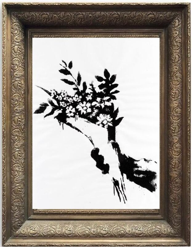 Banksy, 'GDP Flower Thrower', 2019, Print, Screenprint on 50gsm paper, Area Consulting