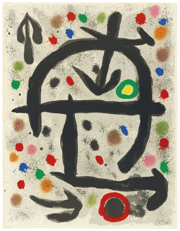 Joan Miró, 'Plate V, from: The Perseides', 1970, Print, Lithograph in colours on BFK Rives wove paper, Christie's