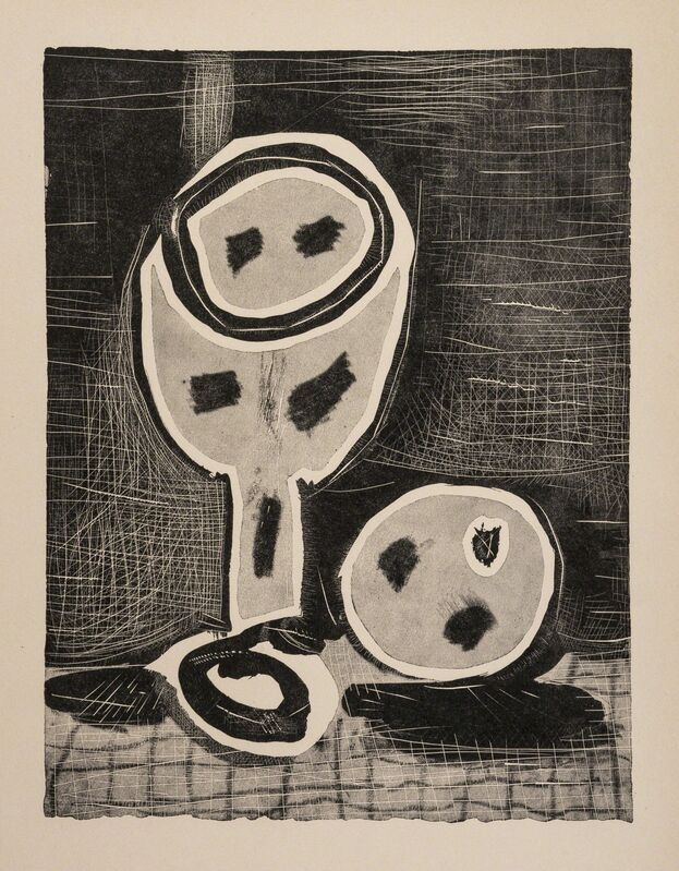 Pablo Picasso, 'Nature Morte au Verre et a la Pomme (Baer 697B)', 1957, Print, Offset lithograph, Forum Auctions