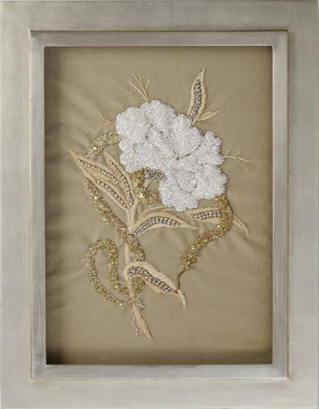 Miguel Cisterna, 'Peony & Snake', 2010, Textile Arts, Hand-embroidered, Maison Gerard