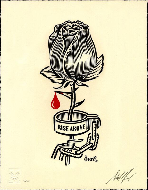 Shepard Fairey, 'Rose Shackle - Stencil', 2019, Print, Letterpress on Cream Cotton, Gallery Auximenes