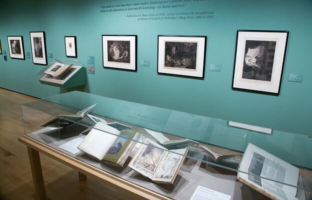 That Right Promethean Fire: Shakespeare Illustrated, installation view